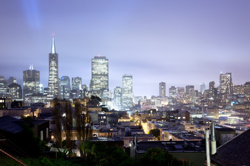 Skyline of Financial district of San Francisco, California, USA