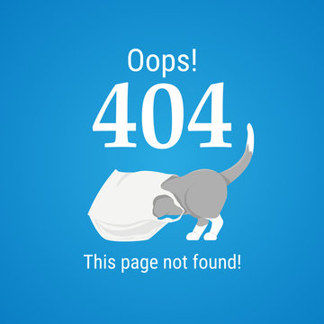 404 error page vector template for website