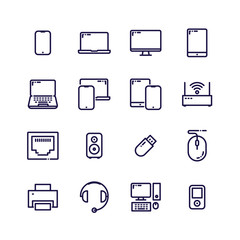 Device Icons vector illustration