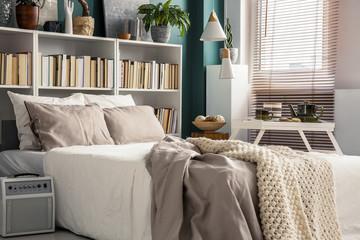 Small bedroom with designer decor