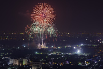 Fireworks Suanluang Rama IX.
