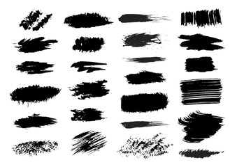 Vector collection of smears and spots.