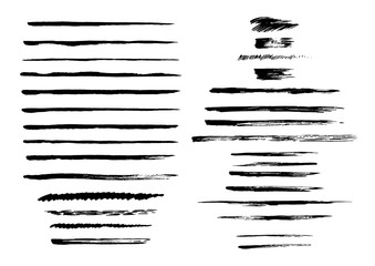 Vector collection of semi-dry brush strokes. Wall mural