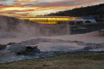 Island Heiße Quellen bei Fludir