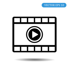 Video player icon. Vector illustration. eps 10