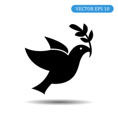 Symbol of peace. Bird icon. Vector illustration eps 10
