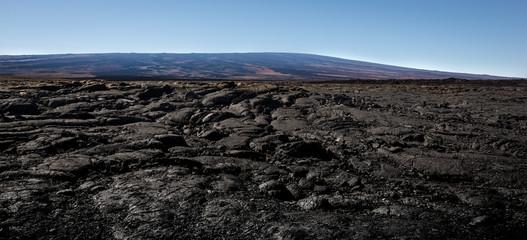 lava field mauna loa volcano