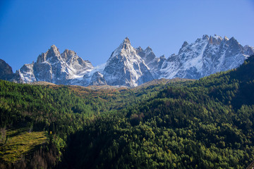 The French Alps in Chamonix