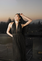 Young Asian Model posing for fashion and portfolio portraits