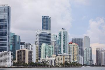Far shot Brickell Miami Florida