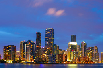 Keuken foto achterwand Sydney Brickell Miami city at twilight long exposure