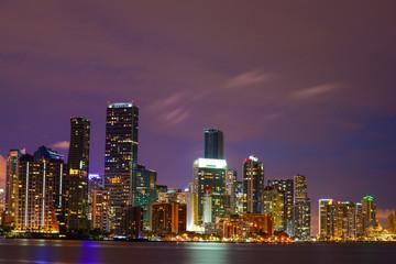 Brickell Miami Florida architecture at night