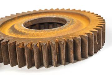Oxidized machine gears