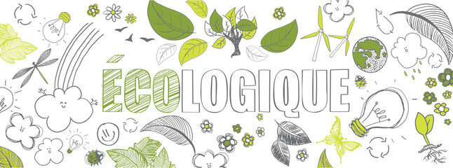 french ecologic banner Wall mural