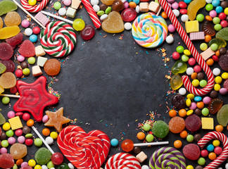 Spoed Foto op Canvas Snoepjes Colorful sweets