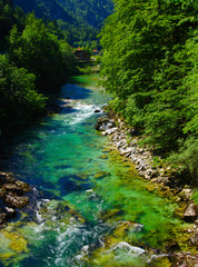 river with clear water