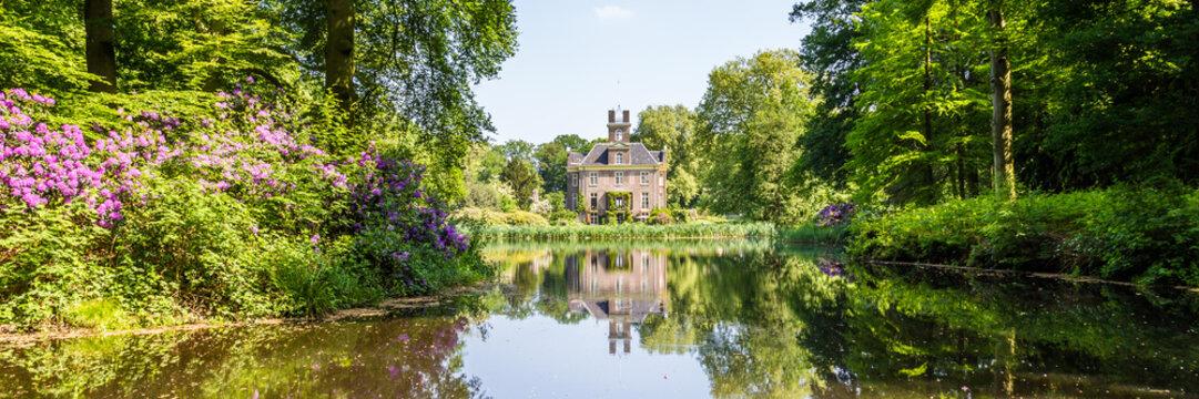 Estate and castle Oldenaller from the seventeenth century between Putten and Nijkerk in Gelderland in the Netherlands.