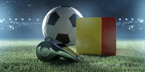 Fußballschiedsrichterausrüstung