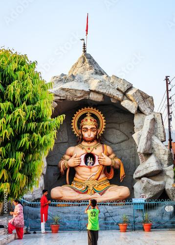 Statue of Hindu Lord Hanuman in Rishikesh  India