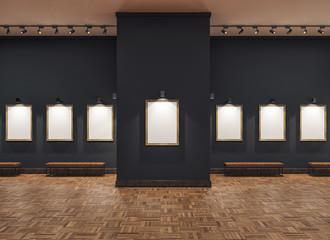 empty gallerys in museum Fototapete