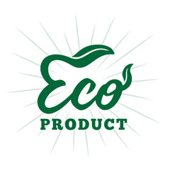 Eco product. Vector and illustration.