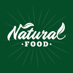 Natural food. Vector and illustration.