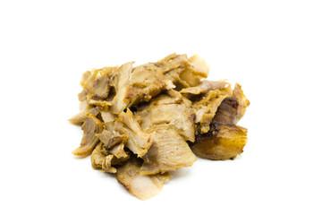 Dönerfleisch Döner fleisch grillfleisch isoliert freigestellt auf weißen Hintergrund, Freisteller