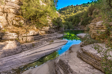 Natural pools, ovires rogovou near Papigo village at Zagorochoria in Epirus, Greece