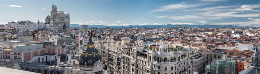 Panoramica de Skyline de Madrid