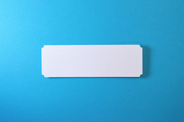 rectangle banner with circled corners on blue background