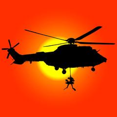 Helicóptero de rescate