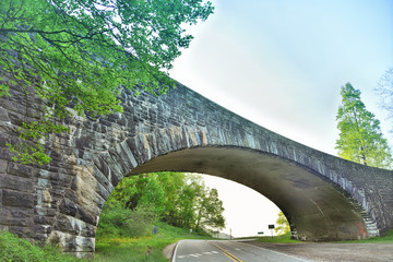 """The Stone Bridge""  a stone bridge on the Blue Ridge Parkway"