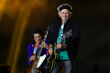 Keith Richards of The Rolling Stones performs at London Stadium in London