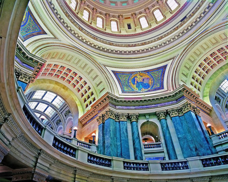 Inside the Capitol dome, Madison, Wisconsin