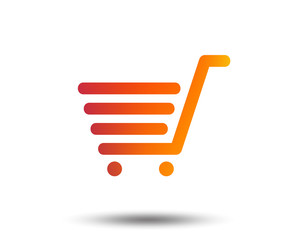 Shopping Cart sign icon. Online buying button. Blurred gradient design element. Vivid graphic flat icon. Vector