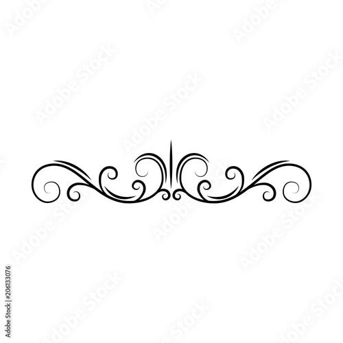flourish page divider decorative scroll page border swirls curls