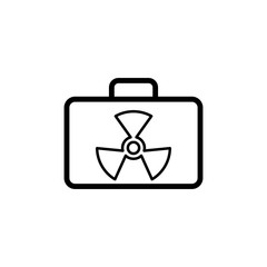 radioactive case icon. Element of science icon for mobile concept and web apps. Thin line radioactive case icon can be used for web and mobile