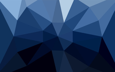 Dark BLUE vector shining triangular backdrop with a gem in a centre.