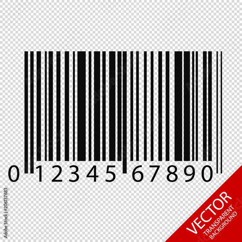 Barcode - Vector Illustration - Isolated On Transparent
