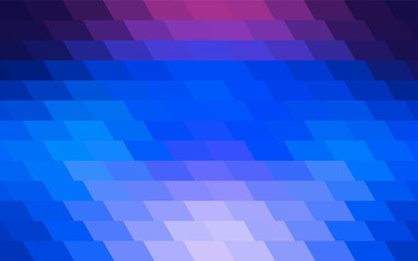 Dark Pink, Blue vector Polygon Abstract Background. Polygonal Geometric rectangle.