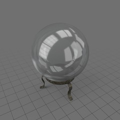 Clear crystal ball