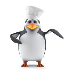 3d Penguin chef