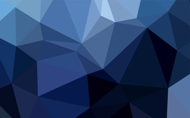 Dark BLUE vector polygonal background.