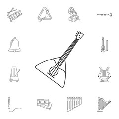 Balalaika icon. Simple element illustration. Balalaika symbol de