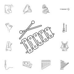 Xylophone icon. Simple element illustration. Xylophone symbol de