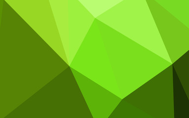 Light Green vector gradient triangles texture.