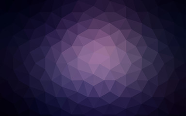 Dark Purple vector gradient triangles texture.