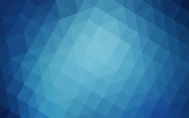 Dark BLUE vector gradient triangles texture.