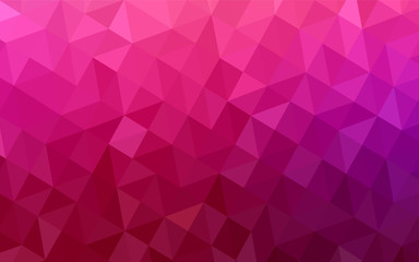 Light Purple, Pink vector low poly texture. Wall mural
