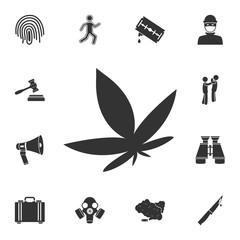 Cannabis icon. Simple element illustration. Cannabis symbol design from Crime collection set. Can be used for web and mobile